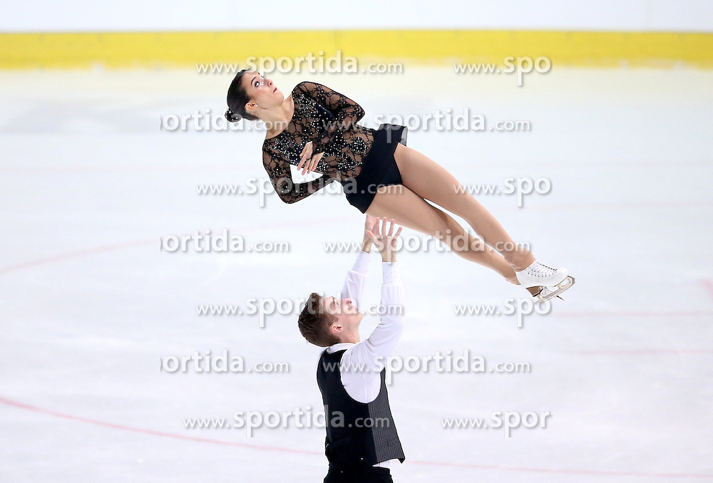 04.12.2015, Dom Sportova, Zagreb, CRO, ISU, Golden Spin of Zagreb, freies Programm, Paare, im Bild Bianca Manacorda - Niccolo Macii, Italy. // during the 48th Golden Spin of Zagreb 2015 doubles Free Program of ISU at the Dom Sportova in Zagreb, Croatia on 2015/12/04. EXPA Pictures &copy; 2015, PhotoCredit: EXPA/ Pixsell/ Igor Kralj<br /> <br /> *****ATTENTION - for AUT, SLO, SUI, SWE, ITA, FRA only*****