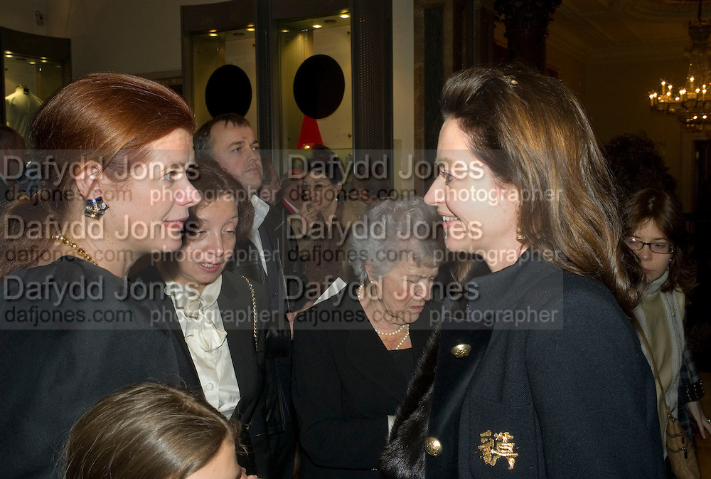 LADY FOSTER AND CORINNE FLICK, Opening of 'From Russia' Royal Academy of arts. Picadilly. London. 22 January 2008. -DO NOT ARCHIVE-© Copyright Photograph by Dafydd Jones. 248 Clapham Rd. London SW9 0PZ. Tel 0207 820 0771. www.dafjones.com.
