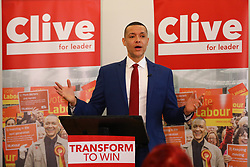 © Licensed to London News Pictures. 10/01/2020. London, UK. Clive Lewis arrives at the Black Cultural Archives in Brixton to launch his campaign for Leader of the Labour Party. Photo credit: Rob Pinney/LNP