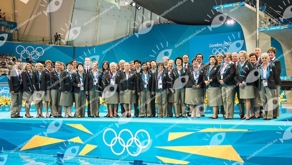 Officials.Team Final .London 2012 Olympics - Olimpiadi Londra 2012.day 15 Aug.10 Synchronized Swimming.Photo G.Scala/Deepbluemedia.eu/Insidefoto