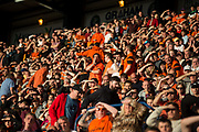 August 9th 2017, Dens Park, Dundee, Scotland; Scottish League Cup Second Round; Dundee versus Dundee United; Dundee United fans