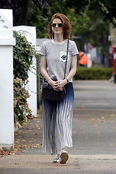 EXCLUSIVE Game of Thrones actress Rose Leslie is spotted enjoying a walk through London.<br />