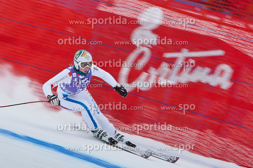19.01.2011, Tofana, Cortina d Ampezzo, ITA, FIS World Cup Ski Alpin, Lady, Cortina, Abfahrt 1. Training, im Bild Aurelie Revillet (FRA, #21) // Aurelie Revillet (FRA) during FIS Ski Worldcup ladies downhill first training at pista Tofana in Cortina d Ampezzo, Italy on 19/1/2011. EXPA Pictures © 2011, PhotoCredit: EXPA/ J. Groder