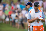Jordan Spieth reads a put during the first round of the AT&T Byron Nelson in Las Colinas, Texas on May 28, 2015. (Cooper Neill for The New York Times)