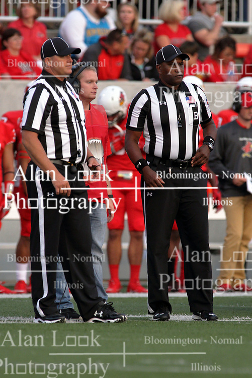 02 September 2017:   Pat Brown II & Stacey Jameson during the Butler Bulldogs at  Illinois State Redbirds Football game at Hancock Stadium in Normal IL (Photo by Alan Look)