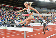 Emma Coburn (USA) places fourth in the women's steeplechase in 9:08.42 during the 54th  Bislett Games in an IAAF Diamond League meet in Oslo, Norway, Thursday, June 13, 2019. (Jiro Mochizuki/Image of Sport)