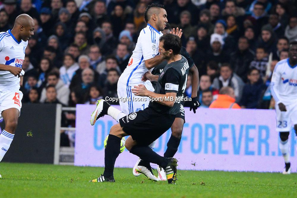 Sylvian MARCHAL / Dimitri PAYET - 07.12.2014 - Marseille / Metz - 17eme journee de Ligue 1 -<br />Photo : Gaston Petrelli / Icon Sport
