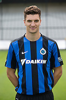Club's Thomas Meunier poses for the photographer during the 2015-2016 season photo shoot of Belgian first league soccer team Club Brugge, Friday 17 July 2015 in Brugge
