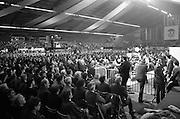 Fianna Fáil Ard Fheis.  (R97)..1989..25.02.1989..02.25.1989..25th February 1989..The Fianna Fáil Ard Fheis was held today at the RDS Main Hall, Ballsbridge, Dublin. An Taoiseach, Charles Haughey TD,gave the keynote speech of the event...A view of the assembled Fianna Fáil faithful who attended the Ard Fheis in the RDS,Dublin.