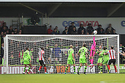Forest Green Rovers Goalkeeper, Sam Russell(23) tips a shot over the bar during the Vanarama National League match between Forest Green Rovers and Lincoln City at the New Lawn, Forest Green, United Kingdom on 19 November 2016. Photo by Adam Rivers.