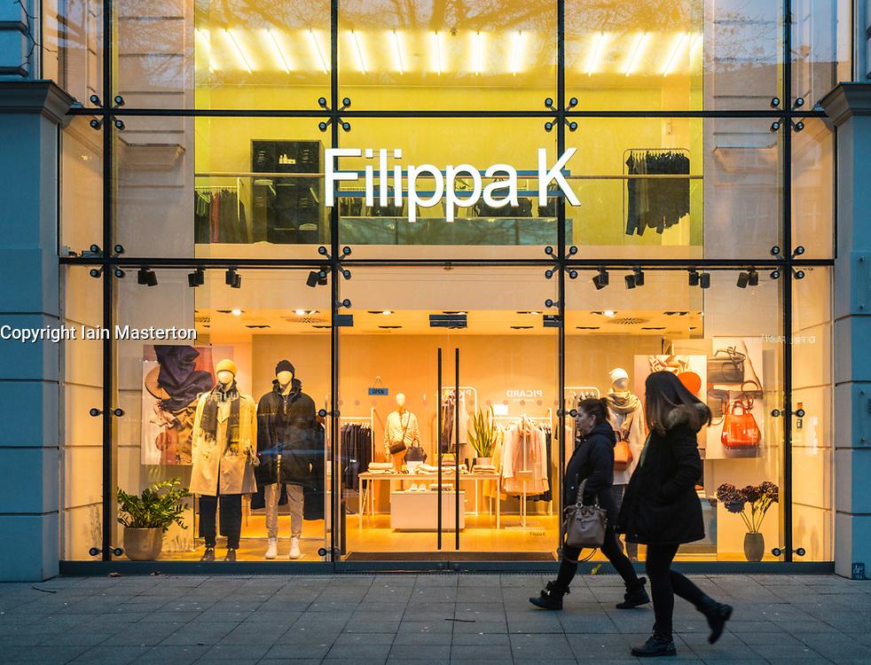 Filippa K store on famous Kurfurstendamm shopping street in Berlin, Germany.