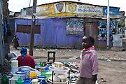 Nairobi, June 2010 -  the Soweto good Samaritan orphans and destitute center. In the Soweto slum.