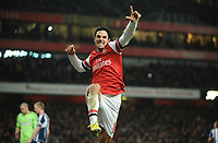 Football - 2012 / 2013 Premier League -  - Arsenal vs. West Bromwich Albion<br /> Mikel Arteta - Arsenal celebrates scoring his 2nd goal from the penalty spot
