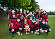 FC Kettledrum celebrate with the Dundee Saturday Morning Football League first division championship trophy  at University Grounds, Riverside<br /> <br /> <br />  - &copy; David Young - www.davidyoungphoto.co.uk - email: davidyoungphoto@gmail.com