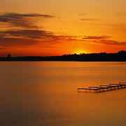 &quot;Grand Traverse Bay Sunrise&quot;<br /> <br /> Gorgeous golden sunrise over Grand Traverse Bay in Traverse City, Michigan.