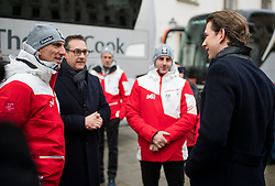 24.01.2018, Hofburg, Wien, Pyeongchang 2018, Vereidigung der Olympia-Mannschaft durch den Bundespräsidenten, im Bild Vizekanzler Heinz-Christian Strache (FPÖ) und Bundeskanzler Sebastian Kurz (ÖVP) mit Sportlern // Austrian Vice Chancellor Heinz-Christian Strache and Austrian Federal Chancellor Sebastian Kurz with Athletes during the swearing-in of the Austrian National Olympic Committee for Pyeongchang 2018 at Hofburg in Vienna, Austria on 2018/01/24, EXPA Pictures © 2018 PhotoCredit: EXPA/ Michael Gruber