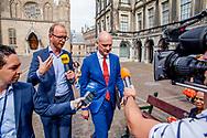 DEN HAAG - Gert-Jan Segers (ChristenUnie) op het Binnenhof na afloop van de onderhandelingen voor de kabinetsformatie met VVD, CDA, D66 en ChristenUnie onder leiding van informateur Gerrit Zalm.  copyrught robin utrecht