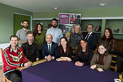 Pictured: The minister enjoyed hearing views from staff and the clients at Carr Gomm<br /> <br /> Migration minister Ben Macpherson visited social care provider Carr Gomm in Edinburgh today where he discussed with staff how proposed new UK immigration rules will hamper the recruitment of health and social care workers from outside the UK and Ireland. <br /> <br /> <br /> Ger Harley | EEm 21 March 2019