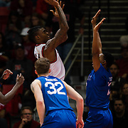 01 March 2017: The San Diego State Aztec's men's basketball team hosts Air Force in their final home game of the season and seniors night. The Aztecs beat the Falcons 51-38<br /> www.sdsuaztecphotos.com