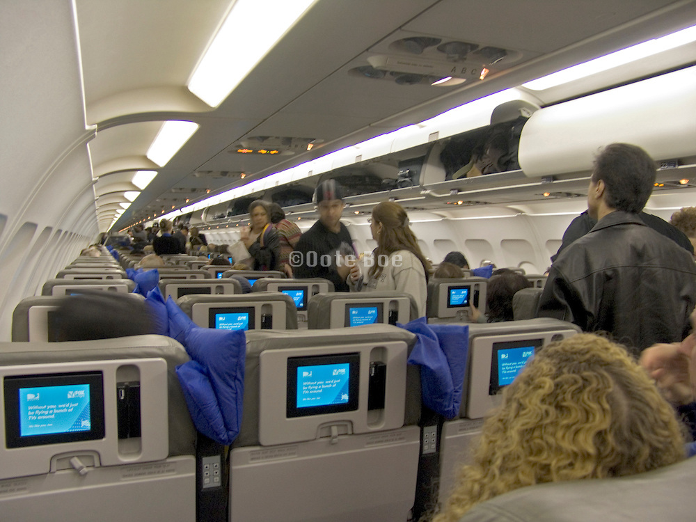 passengers taking there seat before airplane is going to take off boarding