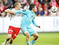 Fotball , <br /> Tippeligaen Eliteserien , <br /> 21.04.08 , <br /> Fredrikstad stadion , <br /> Fredrikstad FFK - Bodø/Glimt , <br /> Patrik Gerrbrand , <br /> Thiago Martins ,<br /> Foto: Thomas Andersen / Digitalsport