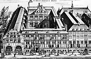 The East India House in Amsterdam, originally a warehouse, after each increase, the buildings were gaps in Irish and Burgwal High Street.