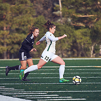 4th year forward, Sydney Langen (13) of the Regina Cougars during the Women's Soccer home game on Sun Oct 07 at U of R Field. Credit: Arthur Ward/Arthur Images