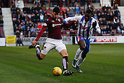 Hearts FC Defender Callum Paterson on the attack during the Ladbrokes Scottish Premiership match between Heart of Midlothian and Kilmarnock at Tynecastle Stadium, Gorgie, Scotland on 27 February 2016. Photo by Craig McAllister.