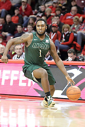 05 December 2015: Denzell Watts. Illinois State Redbirds host the University of Alabama - Birmingham Blazers at Redbird Arena in Normal Illinois (Photo by Alan Look)