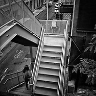 Stairs from the High Line park in New York City