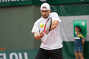 Paris, France. Roland Garros. May 26th 2013.<br /> German player Benjamin BECKER against Jeremy CHARDY