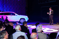 Photograph of the launch of the Jeep Grand Cherokee.
