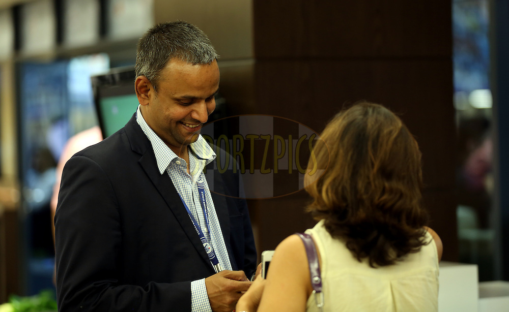 IPL CEO Sundar Raman during match 6 of the Pepsi Indian Premier League Season 7 between the Kolkata Knight Riders and the Delhi Daredevils held at the Dubai International Cricket Stadium, Dubai, United Arab Emirates on the 19th April 2014<br /> <br /> Photo by Sandeep Shetty / IPL / SPORTZPICS
