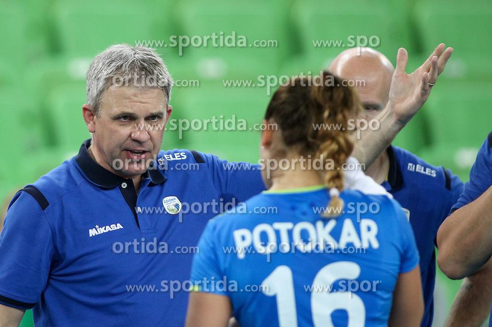 Bruno Najdic, head coach of Slovenia during volleyball match between Slovenia and Slovakia in CEV European League Women on June 22, 2016 in Stozice, Ljubljana, Slovenia. Photo by Morgan Kristan / Sportida