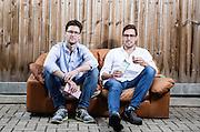 Ed Smith(left) and Richard Wilkinson<br /> Founders of chocolate bars business Doisy &amp; Dam on August 14.  2015.<br /> <br /> Photos Ki Price