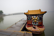Imperial Summer Palace (Yihe Yuan). Kunming lake. Dragon boat, 17-arch-bridge.