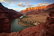 The Colorado River and the Palisades of the Desert. From mile 68 Grand Canyon National Park in Arizona.