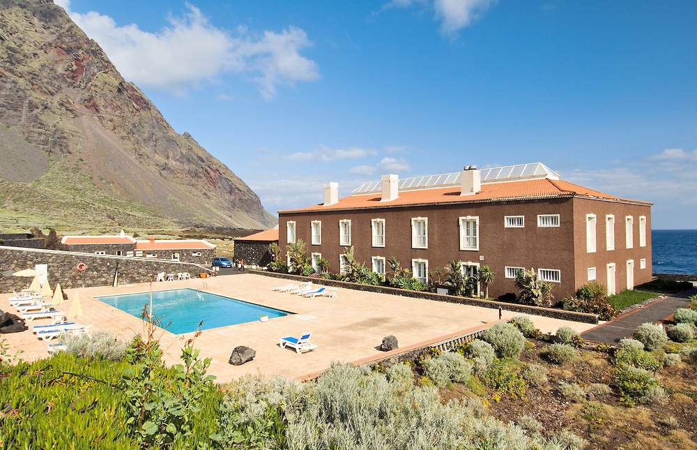El Hierro, Canary Islands. The Hotel Balneario Pozo de la Salud. A spa hotel based on a local curative mineral water spring