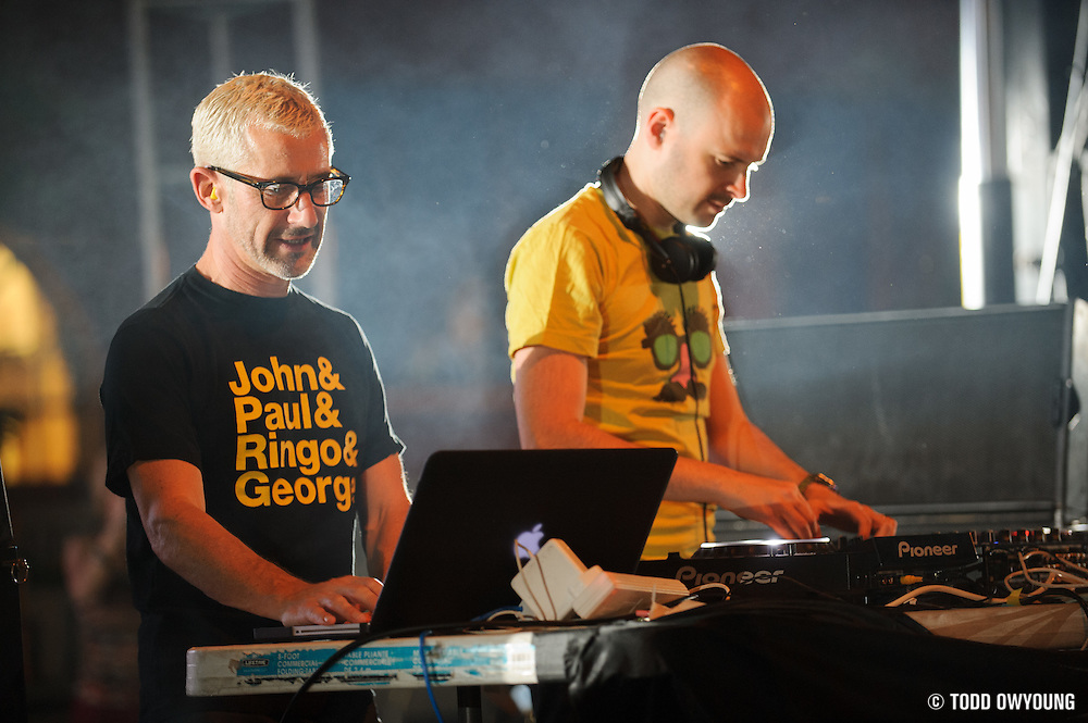 Jono Grant and Tony McGuinnes of UK trance outfit Above and Beyond, performing at the first annual Pulse Festival in St. Louis on June 9, 2012.