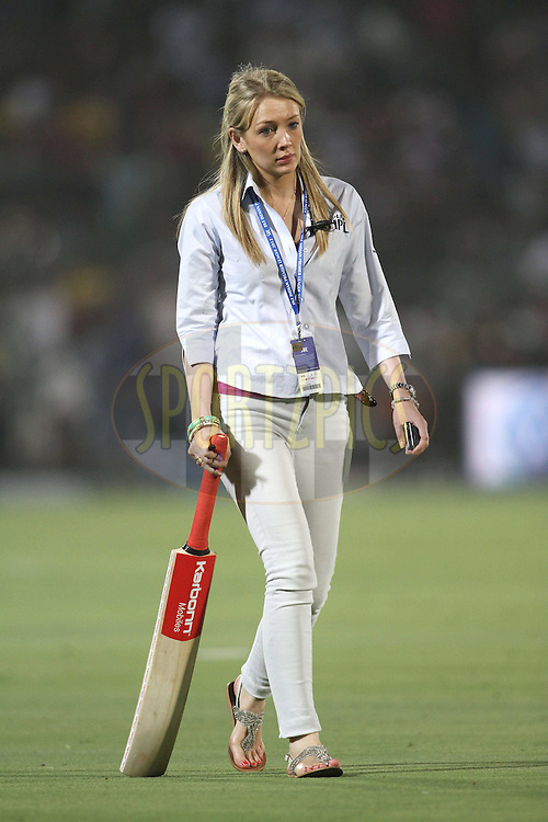 Philippa Baillie of IMG during match 30 of the the Indian Premier League (IPL) 2012  between The Rajasthan Royals and the Royal Challengers Bangalore held at the Sawai Mansingh Stadium in Jaipur on the 23rd April 2012..Photo by Shaun Roy/IPL/SPORTZPICS