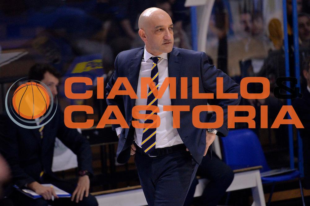 Francesco Frank Vitucci<br /> Vanoli Cremona - Fiat Auxilium Torino<br /> Lega Basket Serie A 2016/2017<br /> Cremona, 12/02/2017<br /> Foto Ciamillo-Castoria