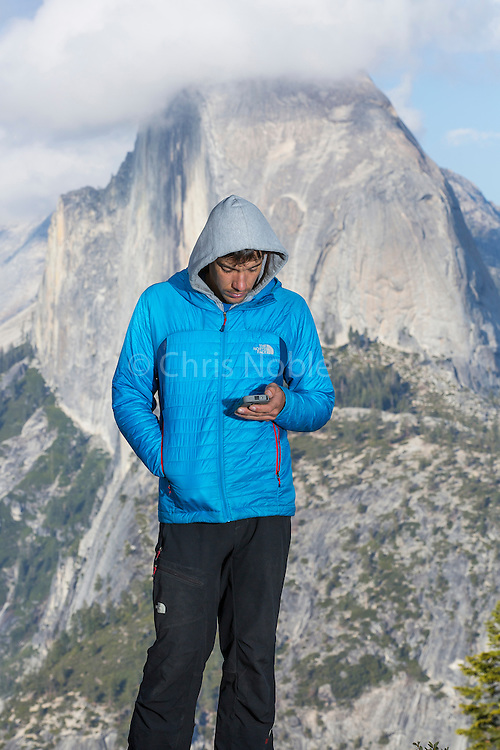 Alex Honnold taking care of biz in his office