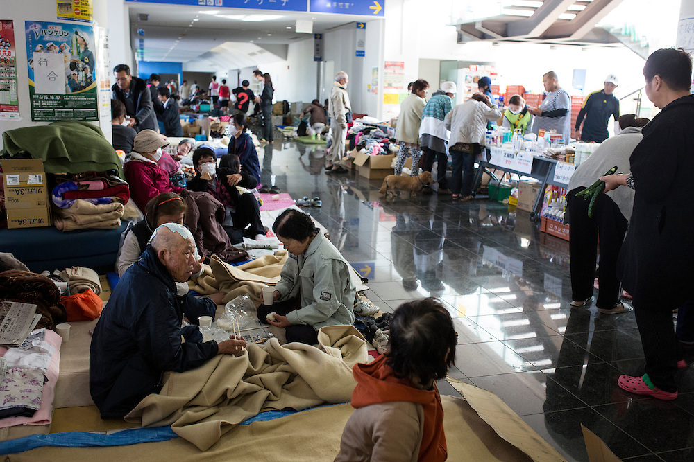 KUMAMOTO, JAPAN - APRIL 20: Quake survivors, is seen on April 20, 2016 in Mashiki Gymnasium evacuation center, Kumamoto, Japan. As of April 45 people were confirmed dead after strong earthquakes rocked Kyushu Island of Japan. Nearly 11,000 people are reportedly evacuated after the tremors Thursday night at magnitude 6.5 and early Saturday morning at 7.3.