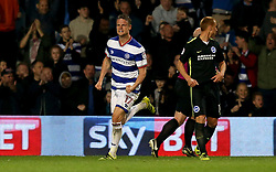 Matt Smith of Queens Park Rangers celebrates scoring a goal - Mandatory by-line: Robbie Stephenson/JMP - 07/04/2017 - FOOTBALL - Loftus Road - Queens Park Rangers, England - Queens Park Rangers v Brighton and Hove Albion - Sky Bet Championship