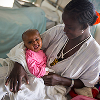 A patient plays with her baby at the Hamlin Fistula Hospital in Addis Ababa.