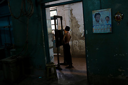A man receives a chest X-Ray during the admission process at the Group of TB Hospitals in Mumbai.