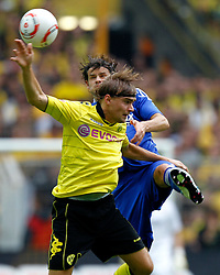 22.08.2010, Signal Iduna Park, GER, 1. FBL, Hinrunde 2010/2011, Borussia Dortmund vs Bayer 04 Leverkusen, im Bild: Marcel Schmelzer (Dortmund GER #29) vsTranquillo Barnetta (Bayer 04 Leverkusen SUI #7), EXPA Pictures © 2010, PhotoCredit: EXPA/ nph/  Scholz..+++++ ATTENTION - OUT OF GER +++++ / SPORTIDA PHOTO AGENCY