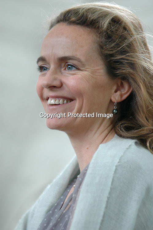 24 August 2005-Edinburgh,UK- British writer Justine Hardy, author of the novel &quot;Bollywood Boy&quot;.<br />