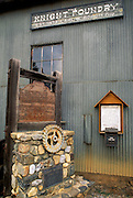 The Knight Foundry (1873) state historical landmark in Sutter Creek (only water powered foundry still working in US), Gold Country (Highway 49), California