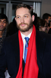 Tom Hardy at the This Means War premiere in London on Monday, 30th January 2012. Photo by: i-Images<br /> <br /> File Photo : Tom Hardy in talks to play both Kray Twins.<br /> Tom Hardy is rumoured to be in line to play the notorious Kray twins, Reginald and Ronald, in an upcoming biopic.<br /> Photo filed Tuesday 25th Feb 2014.